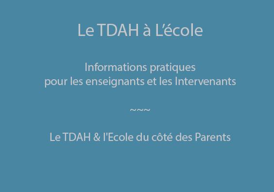 TDAH et Ecole