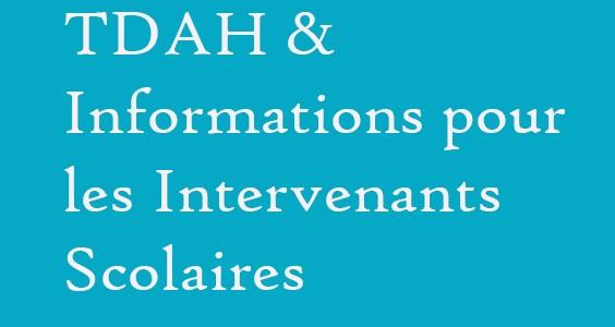 TDAH – Supports & Conseils pour les enseignants et intervenants…