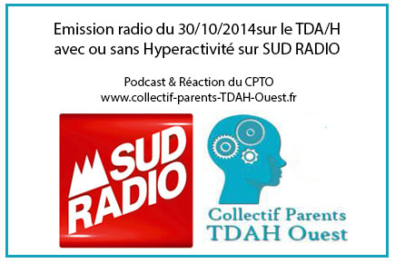 Emission radio sur le TDAH avec l'intervention du Dr VERA, une des co-fondatrices du CPTO …