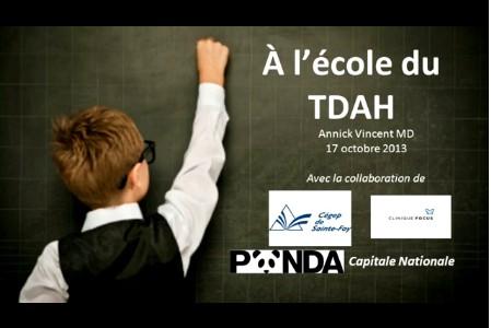 Conférence d'Annick Vincent sur le TDAH le 17/10/2013