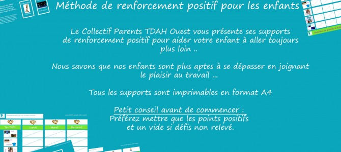 Supports de renforcement positif – Collectif Parents TDAH Ouest