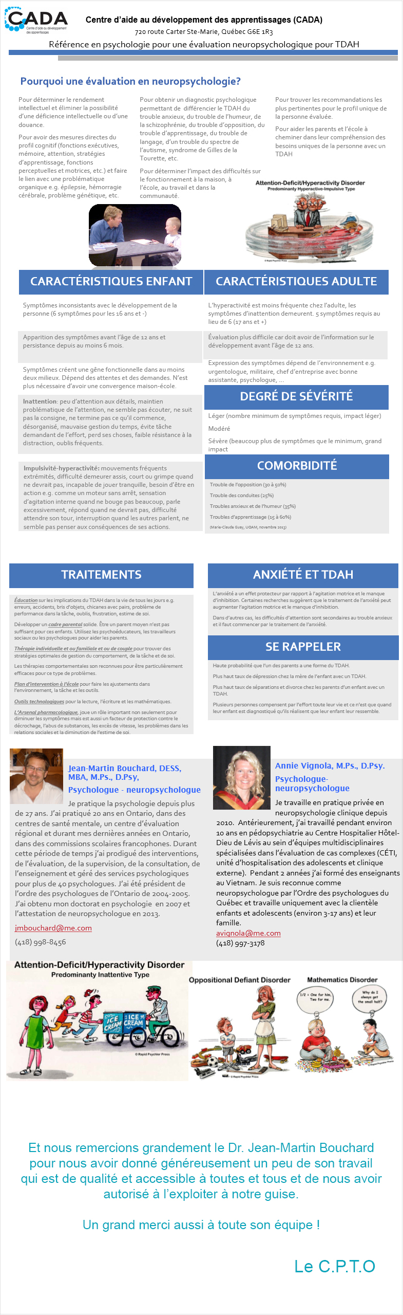 ADHD handout France