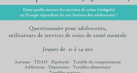 Questionnaire pour adolescents, utilisateurs de services de soins de santé mentale par Adocare